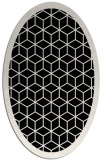 rug #999049 | oval white borders rug