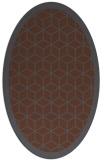 rug #999055 | oval borders rug