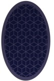 rug #999133 | oval blue-violet borders rug