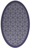 rug #999137   oval blue-violet borders rug