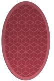 rug #999143 | oval borders rug