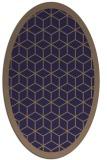 rug #999153   oval blue-violet borders rug