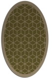 rug #999161 | oval mid-brown borders rug