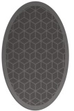 rug #999193   oval mid-brown borders rug