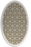 rug #999201 | oval white geometry rug