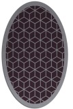 rug #999289 | oval purple geometry rug
