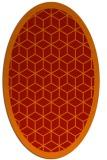 rug #999297 | oval red borders rug