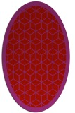 rug #999305   oval red borders rug