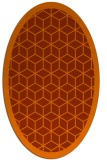 rug #999309 | oval red-orange borders rug