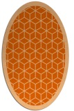 rug #999313 | oval red-orange geometry rug
