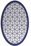 rug #999333 | oval white geometry rug