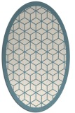 rug #999345 | oval white borders rug