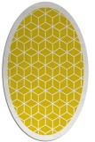 rug #999361 | oval yellow borders rug