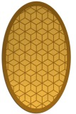 rug #999365 | oval yellow rug