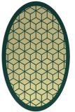 rug #999369 | oval yellow geometry rug