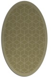 rug #999377 | oval light-green borders rug