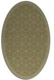 rug #999377 | oval light-green rug