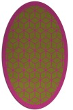 rug #999381 | oval light-green rug