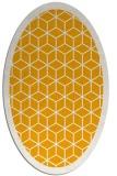 rug #999389 | oval light-orange borders rug