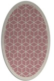 rug #999393 | oval pink borders rug