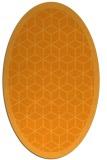 rug #999397 | oval light-orange borders rug