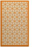 rug #999405 |  orange geometry rug