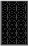 rug #999413 |  black borders rug
