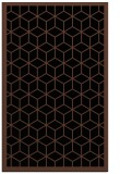 rug #999421 |  brown borders rug