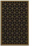 rug #999425 |  black borders rug