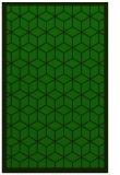 rug #999465    green geometry rug
