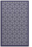 rug #999497    blue-violet borders rug