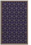 rug #999513 |  blue-violet geometry rug