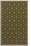 rug #999521 |  mid-brown borders rug