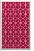 rug #999525 |  red borders rug