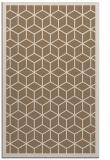 rug #999557 |  mid-brown borders rug
