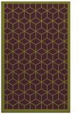 rug #999641 |  purple borders rug