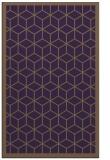 rug #999645 |  purple borders rug