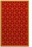 rug #999657 |  orange borders rug