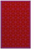 rug #999665 |  red geometry rug