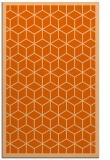 rug #999673 |  red-orange borders rug