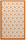 rug #999681    red-orange borders rug