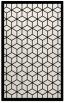 rug #999685 |  black geometry rug