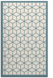 rug #999705 |  white borders rug