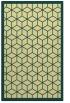 rug #999729 |  blue-green borders rug