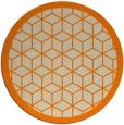 rug #999765 | round beige borders rug