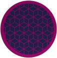 rug #999801   round blue borders rug