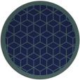 rug #999805 | round blue borders rug