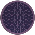 rug #999865   round purple borders rug