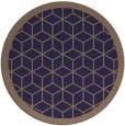 rug #999873 | round beige borders rug