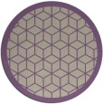 rug #999949 | round purple borders rug
